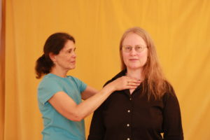 Barbara Curialle works with an Alexander Technique Student